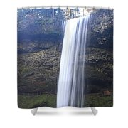 South Falls In Winter Time Shower Curtain