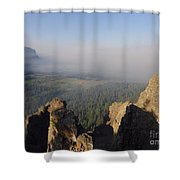 South Fork Fire Shower Curtain