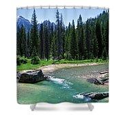 South Fork Payette River Grandjean Shower Curtain