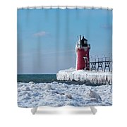 South Haven Ice Shower Curtain