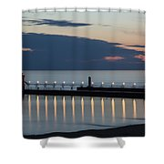South Haven Michigan Lighthouse Shower Curtain