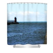 South Haven South Pierhead Light Shower Curtain