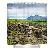 South Iceland Landscape Pingvellir Shower Curtain