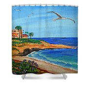 South La Jolla Shower Curtain