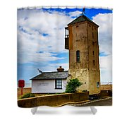 South Lookout Tower Aldeburgh Beach Shower Curtain