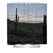 South Mountain Sunrise Shower Curtain