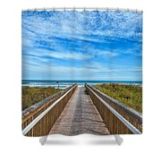 South Padre Island Walkway Shower Curtain