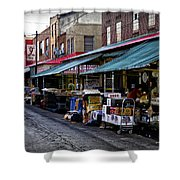 South Philly Italian Market Shower Curtain