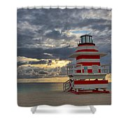 South Pointe Park Lighthouse Shower Curtain