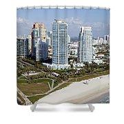 South Pointe Park Miami Beach Florida Shower Curtain