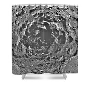 South Pole Of Moon  Shower Curtain