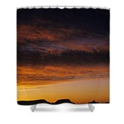 South Rim Grand Canyon Dramatic Clouds Sunset With Silhouetted R Shower Curtain