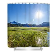 South Sister Wide Angle Shower Curtain