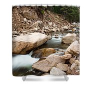 South St Vrain Canyon Autumn View Shower Curtain
