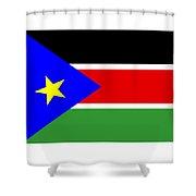 South Sudan Flag Shower Curtain