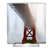 South Tower Fog Shower Curtain