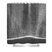 South Tower Rain In Black And White Shower Curtain