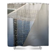 South Tower Reflections Shower Curtain
