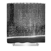 South Tower Water In Black And White Shower Curtain