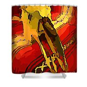 South Western Style Art With A Canadian Moose Skull  Shower Curtain