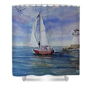 Southampton Wind Shower Curtain
