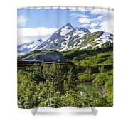 Southbound Alaska Railroad  Shower Curtain