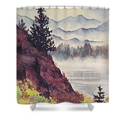 Southeast Alaska Shower Curtain