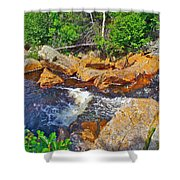 Southeast Brook Above Falls In Gros Morne Np-nl Shower Curtain
