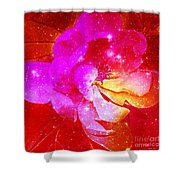Southern Belle / Hot Pink Magnolia  Shower Curtain
