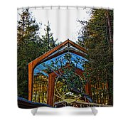 Southern California's Wafarers Chapel 3 Shower Curtain