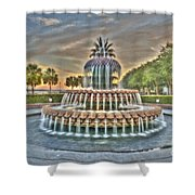 Southern Charm Pineapple Shower Curtain