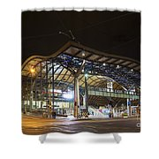 Southern Cross Rail Station In Melbourne Australia Shower Curtain
