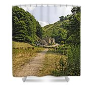 Southern End Of Wolfscote Dale Shower Curtain