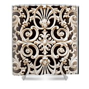 Southern Ironwork In Sepia Shower Curtain