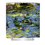 Southern Lily Pond Shower Curtain