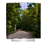 Southern Missouri Country Road I Shower Curtain