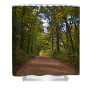 Southern Missouri Country Road II Shower Curtain