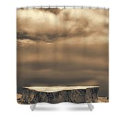 Southern Ocean In Black And White Shower Curtain