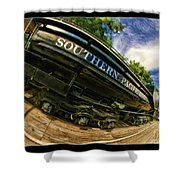Southern Pacific 2472 Steam Engine 1921 Sunol Station Shower Curtain