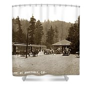 Southern Pacific Depot At Brookdale Santa Cruz Co. Cal. Circa 1910 Shower Curtain