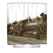 Southern Pacific Steam Locomotives No. 2847 2-8-0 1901 Shower Curtain