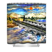 Southern River Dam					 Shower Curtain