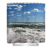 Southern Shores Splash Shower Curtain