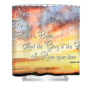 Southern Sunset - Digital Paint IIi With Verse Shower Curtain