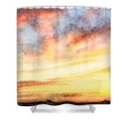 Southern Sunset - Digital Paint Iv Shower Curtain