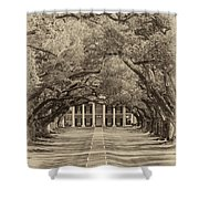Southern Time Travel Sepia Shower Curtain