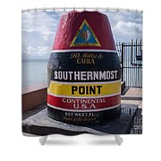 Southernmost Point Marker Shower Curtain