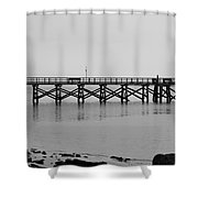 Southport Fishing Pier Shower Curtain