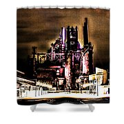 Southside Stacks Shower Curtain