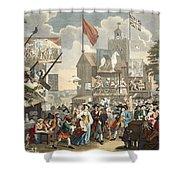 Southwark Fair, 1733, Illustration Shower Curtain